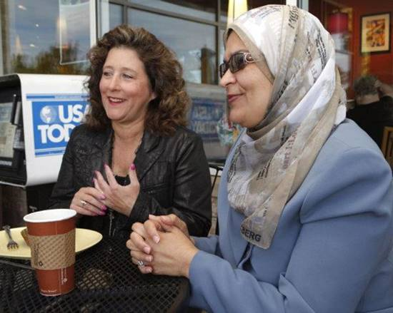 Picture of two women at an Interfaith meeting